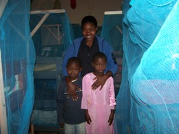 Mosquito nets-matron and boarding students