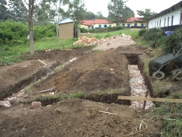 Washrooms-foundation stage at Bishop Ruhindi school2013
